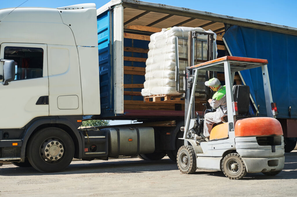 Forklift With Load